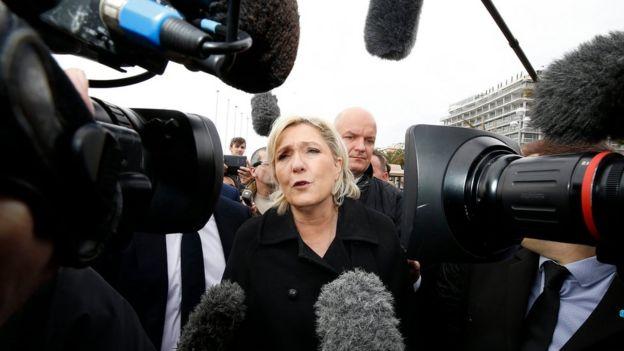 Marine Le Pen visits the