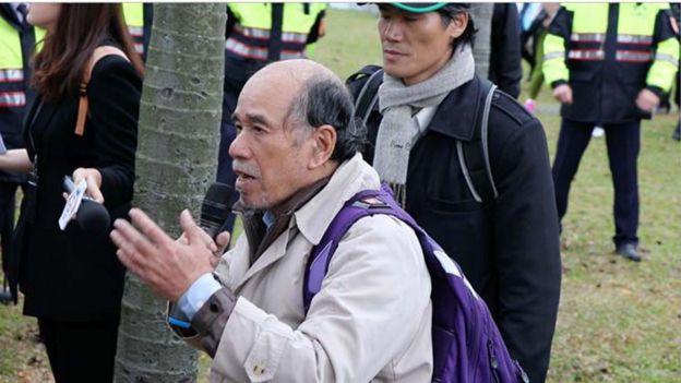 自由台湾党主席蔡丁贵