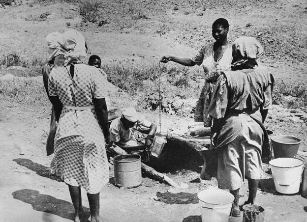 Mujeres de la tribu Bamangwato