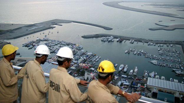 Trabajadores indios en Dubai