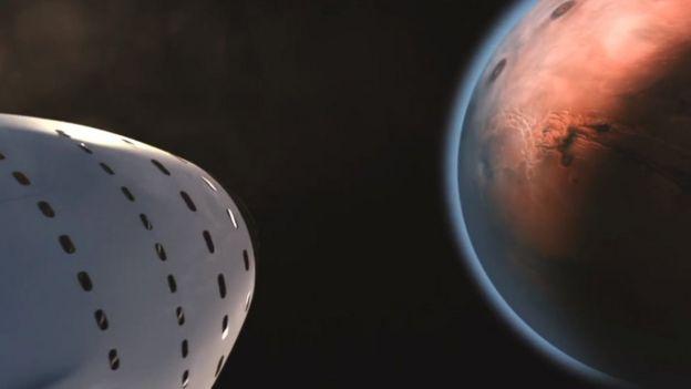 nave para volar a Marte