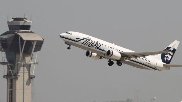 Avión de Alaska Airlines