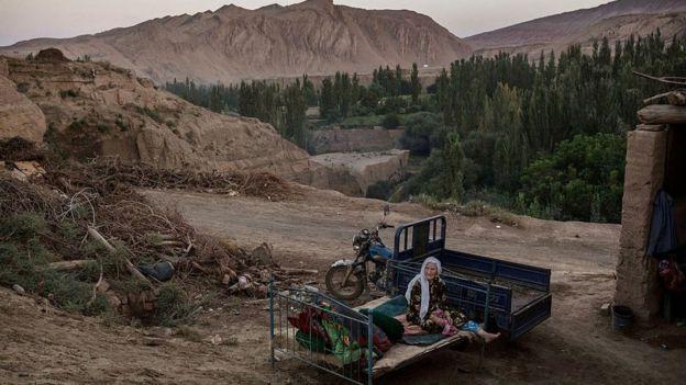 Mujer uigur en Xinjiang.
