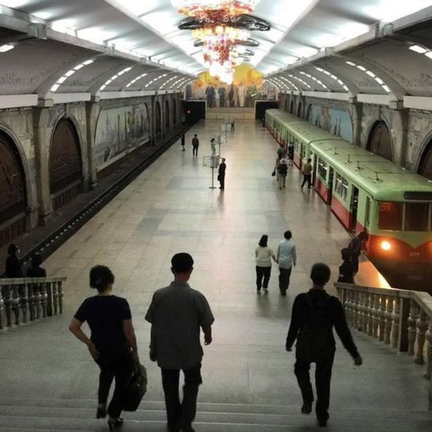 El metro de Pyongyang, Corea del Norte