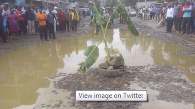 Watoa huduma za usafiri wapanda mgomba wa ndizi barabarani Nairobi