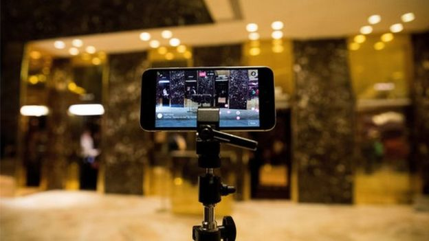 facebook Live desde la Trump Tower