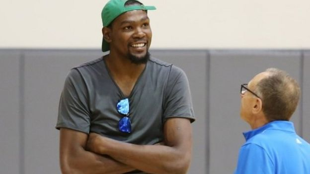 NBA player Kevin Durant