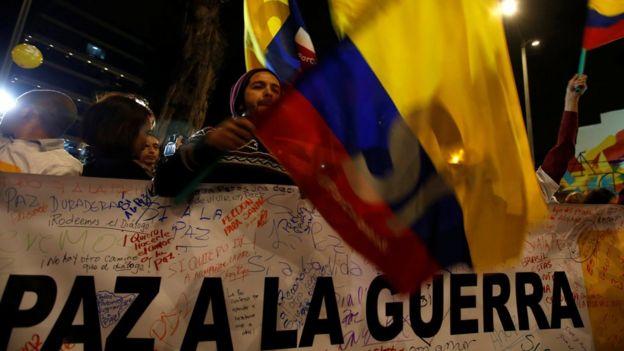 Celebración en Bogotá por el anuncio del acuerdo