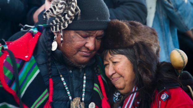 Karara sevinen ABD'li yerliler