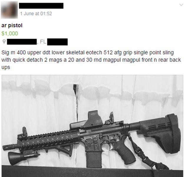 Rifle de asalto en Facebook