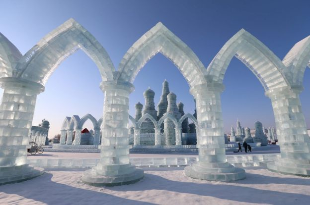 Ice sculptures at Harbin