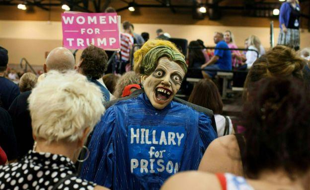 Mujeres a favor del candidato republicano a la presidencia de EE.UU., Donald Trump.