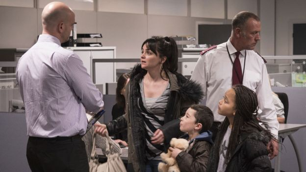 Hayley Squires (centre) in I, Daniel Blake