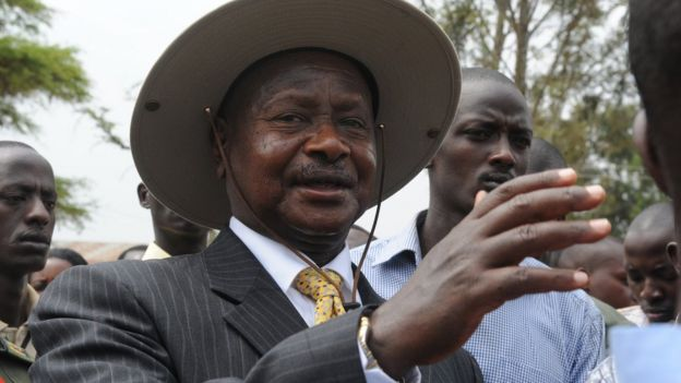 President Museveni voting last year