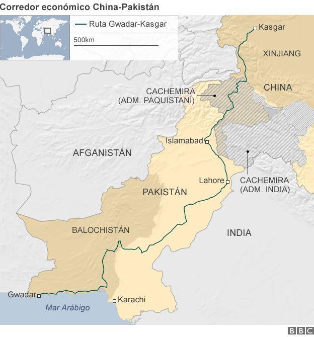 Mapa del corredor CECP