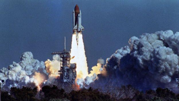 El lanzamiento del Challenger