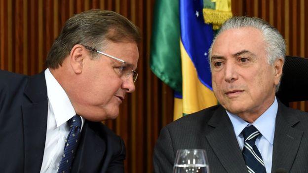 Geddel Vieira de Lima, ao lado do presidente Temer