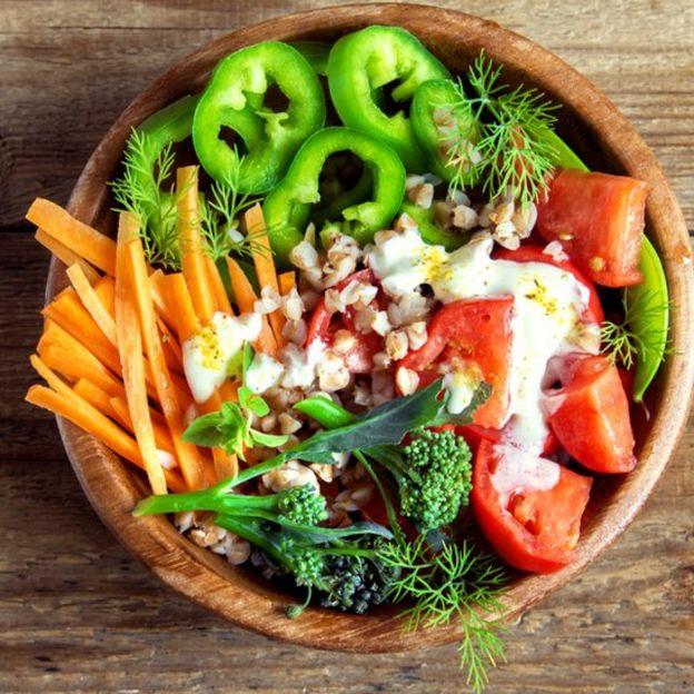 Plato de vegetales
