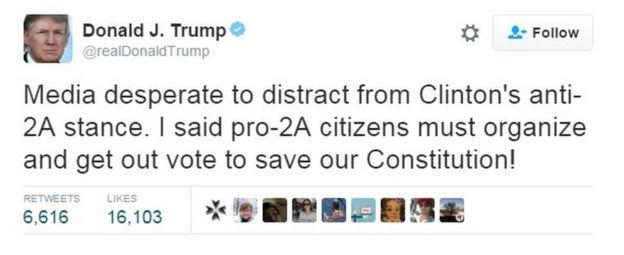 Tuíte de Donald Trump