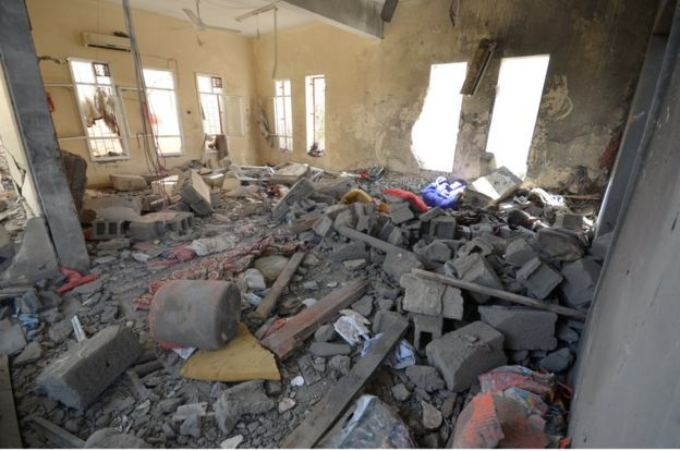 A view of a prison struck by Arab coalition warplanes in al-Zaydiyah district of the Red Sea port city of Hodeidah, Yemen on October 30, 2016.