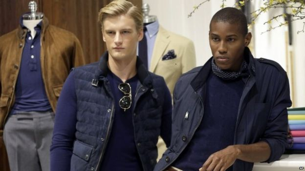Models show off the Ralph Lauren Spring 2016 collection