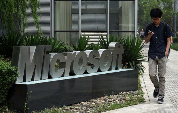 Edificio de Microsoft en Pekín.