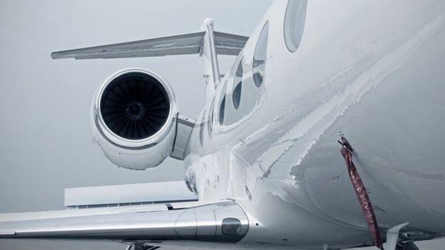 Un avión ejecutivo