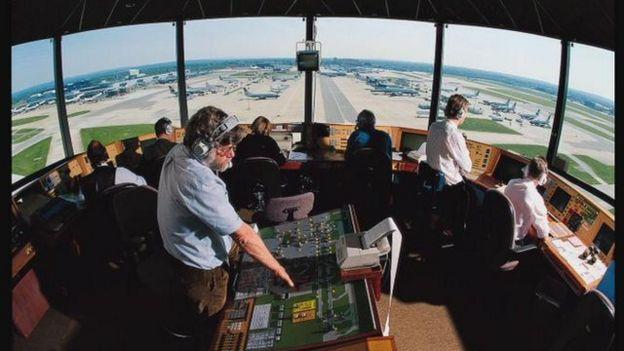 Air traffic control at Gatwick