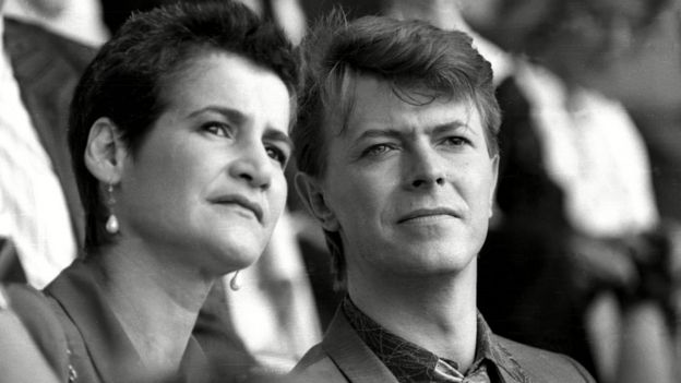 David Bowie y Corinne Schwab en 1985