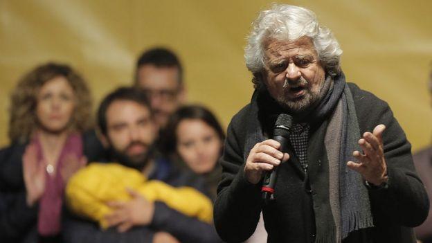 El líder del Movimiento 5 Estrellas, Beppe Grillo