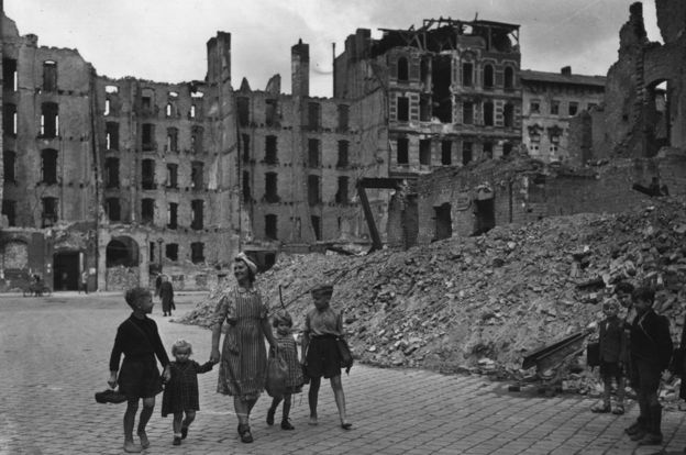 War-damaged Berlin in 1945