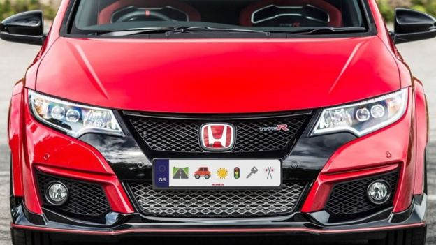 Honda say they are making Emoji number plates.