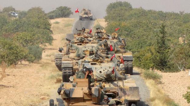 Cerablus operasyonundaki Türk birlikleri.