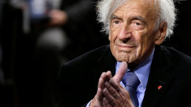 file pic of Elie Wiesel (taken in 2015)