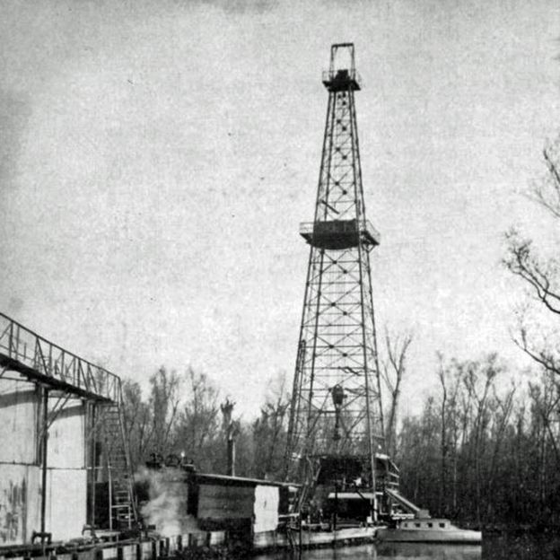 An oil well in Leeville