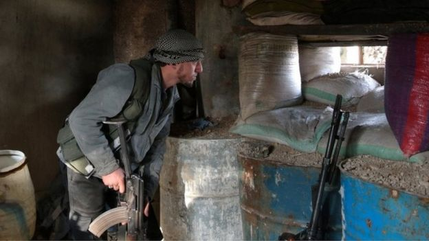 The rebels have accused the government of ceasefire violations near Damascus