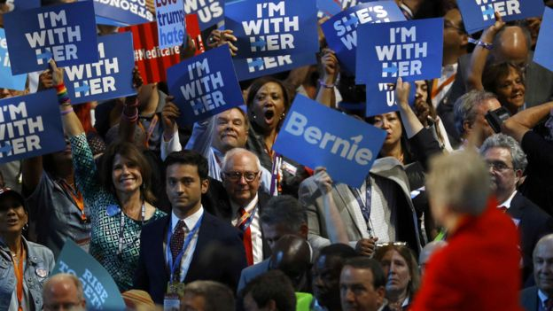 Delegates cheer after a speech by U.S. Senator Elizabeth Warren (D-MA) at the Democratic National Convention in Philadelphia, Pennsylvania, U.S. July 25, 2016