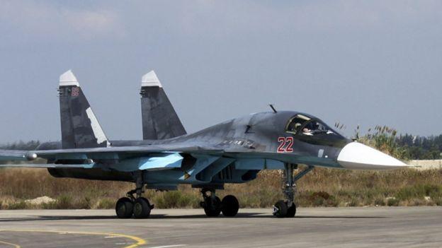 Avião de combate russo na Síria