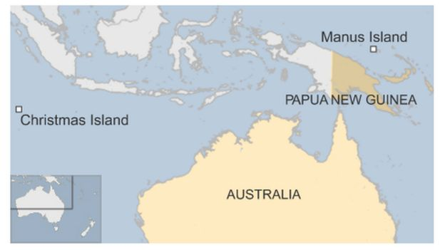 Nauru And Manus Island In Papua New Guinea Png