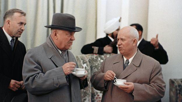 Булганин и Хрущев