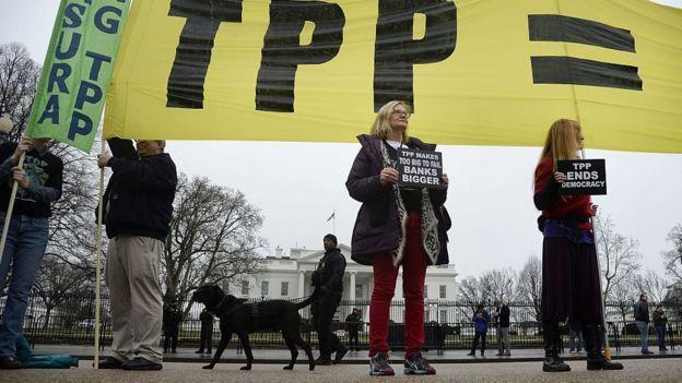 Protesta contra TPP