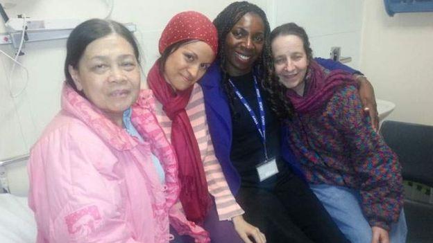 Aisha, Katy, Yvonne Hall e Josie