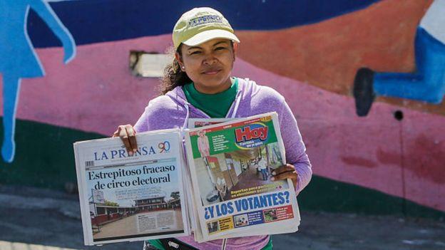 Periódicos en Nicaragua el día después de las elecciones