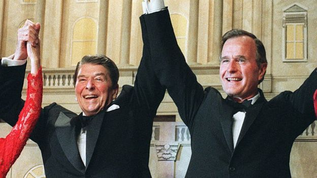 Ronald Reagan and George Bush