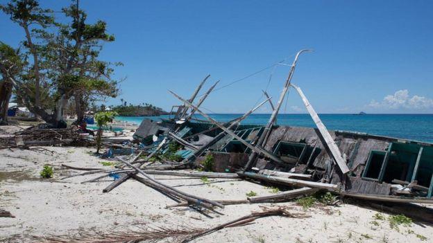 Malapascua após passagem do tufão Haiyan