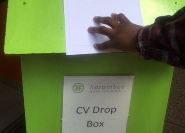 Harambee's CV drop box