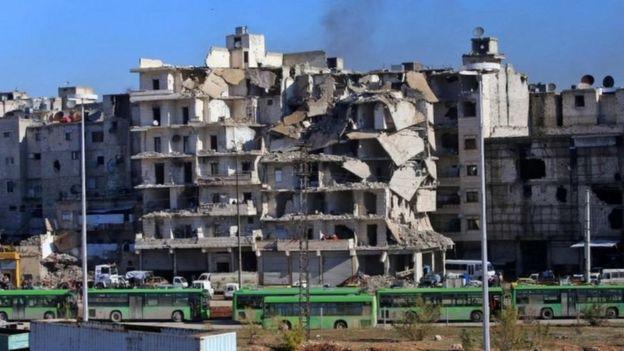 Takriban watu 50,000 wanasemekana bado wanaishi Mashariki mwa Aleppo