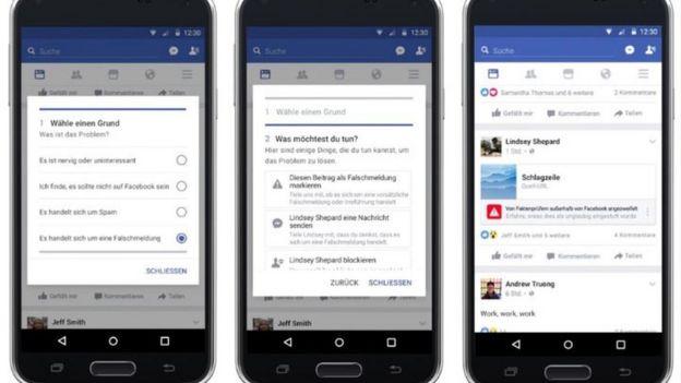 Facebook公布了打擊假新聞的過濾工具截圖。