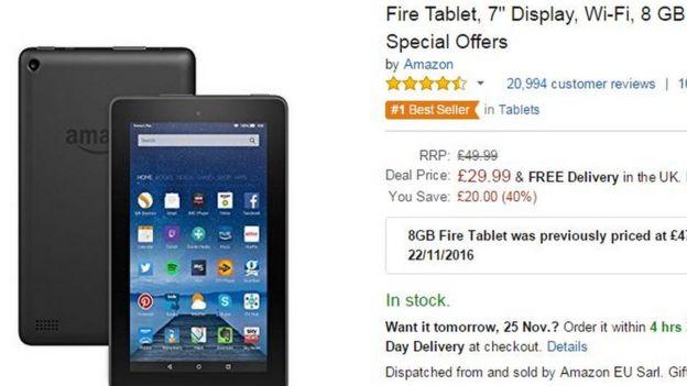 Oferta del Kindle Fire en Amazon