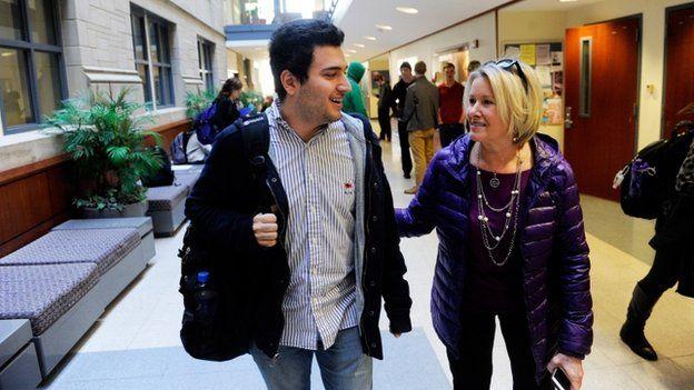 Refugee starting university